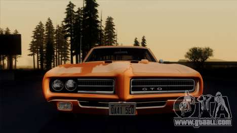 Pontiac GTO The Judge Hardtop Coupe 1969 for GTA San Andreas side view