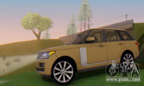Range Rover Vogue 2014 V1.0 SA Plate for GTA San Andreas left view