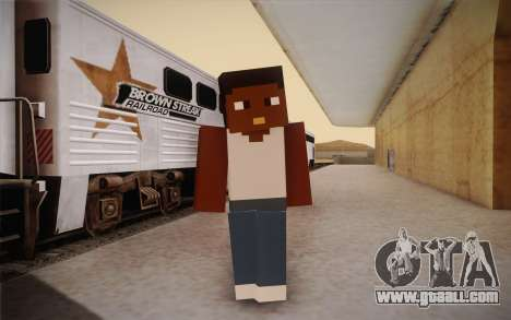 Cj Minecraft for GTA San Andreas