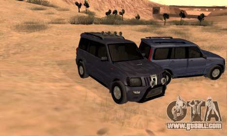 Mahindra Scorpio for GTA San Andreas interior