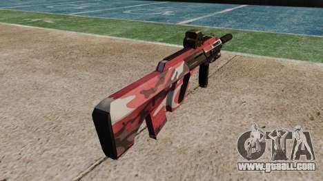 Автомат Steyr AUG-A3 Optic Red urban for GTA 4 second screenshot