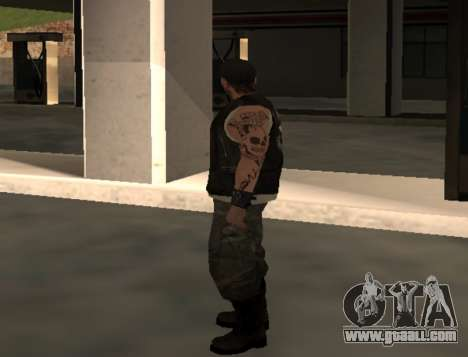 Biker from the club Roads Angels for GTA San Andreas second screenshot