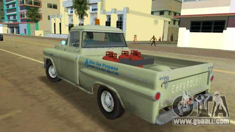 Chevrolet Apache Fleetside 1958 for GTA Vice City back left view