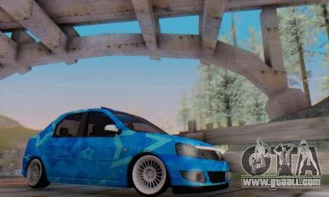 Dacia Logan Blue Star for GTA San Andreas interior