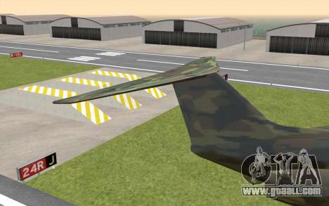 Camouflage Shamal for GTA San Andreas back left view