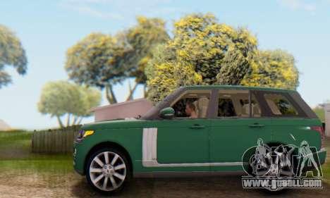Range Rover Vogue 2014 V1.0 UK Plate for GTA San Andreas upper view