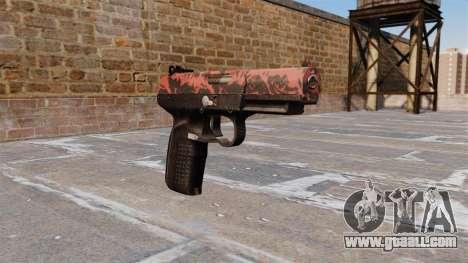 Gun FN Five seveN Red tiger for GTA 4
