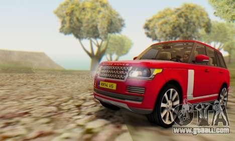 Range Rover Vogue 2014 V1.0 UK Plate for GTA San Andreas back left view