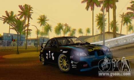 Subaru Impreza WRC STI Black Metal Rally for GTA San Andreas