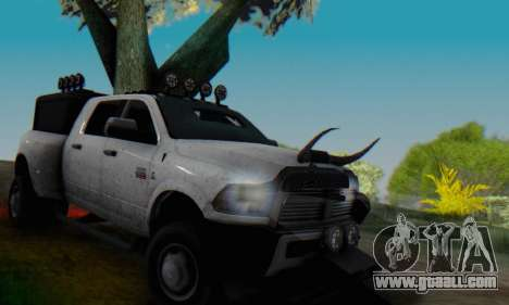 Dodge Ram 3500 Super Reforzada for GTA San Andreas upper view