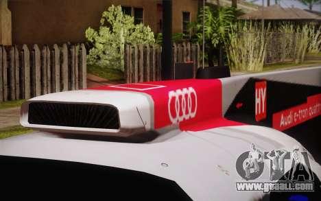 Audi R18 E-tron Quattro 2014 for GTA San Andreas back view