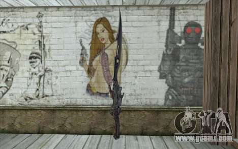 Lightnings Sword from Final Fantasy for GTA San Andreas second screenshot