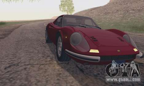 Ferrari Dino 246 GTS Coupe for GTA San Andreas right view