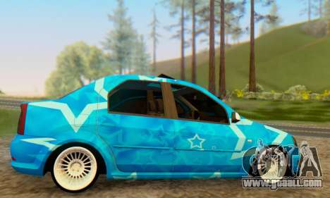 Dacia Logan Blue Star for GTA San Andreas right view