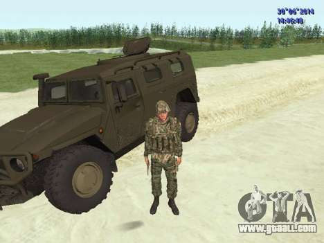 The fighter of the Russian army for GTA San Andreas ninth screenshot