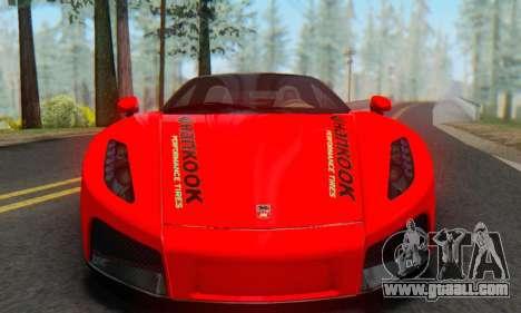 GTA Spano 2014 HQLM for GTA San Andreas back left view