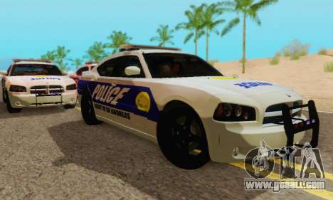 Pursuit Edition Police Dodge Charger SRT8 for GTA San Andreas back left view