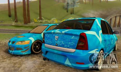 Dacia Logan Blue Star for GTA San Andreas back left view