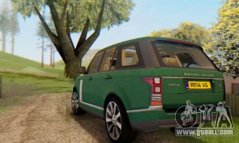 Range Rover Vogue 2014 V1.0 UK Plate for GTA San Andreas bottom view