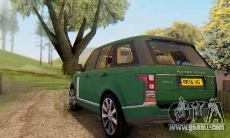 Range Rover Vogue 2014 V1.0 UK Plate for GTA San Andreas bottom view