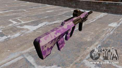 Machine Steyr AUG-A3 Purple Camo for GTA 4 second screenshot