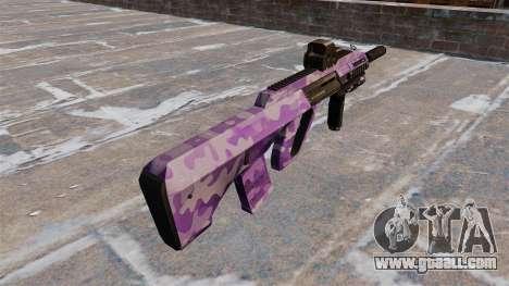 Machine Steyr AUG-A3 Purple Camo for GTA 4 second screenshot