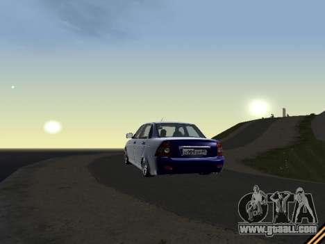 Lada 2170 Priora for GTA San Andreas inner view