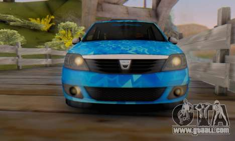 Dacia Logan Blue Star for GTA San Andreas bottom view