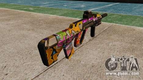 Автомат Steyr AUG-A3 Optic Graffitti for GTA 4 second screenshot
