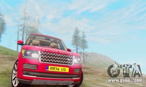 Range Rover Vogue 2014 V1.0 UK Plate for GTA San Andreas left view