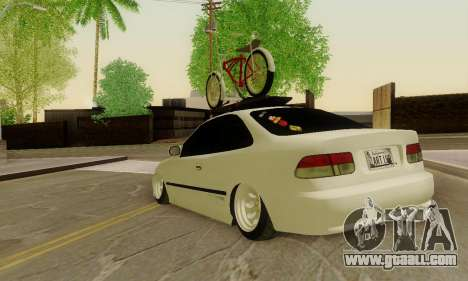 Honda Civic ek Coupe Hellaflush for GTA San Andreas back left view