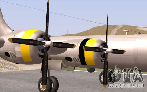 B-29A Superfortress for GTA San Andreas back view