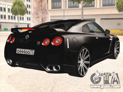 Nissan GTR-R35 Spec-V for GTA San Andreas right view