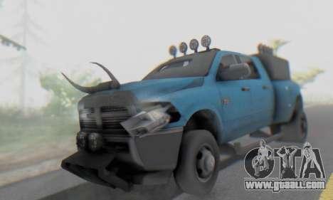 Dodge Ram 3500 Super Reforzada for GTA San Andreas inner view