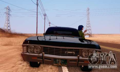 Chevrolet Impala 1967 Supernatural for GTA San Andreas back view