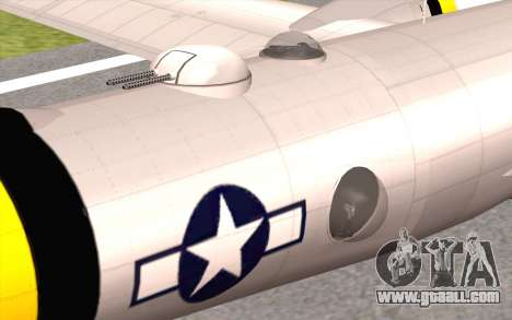 B-29A Superfortress for GTA San Andreas right view