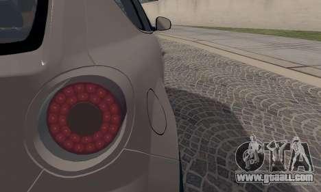 Afla Romeo Mito Quadrifoglio Verde for GTA San Andreas upper view