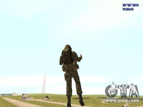 The fighter of the Russian army for GTA San Andreas fifth screenshot