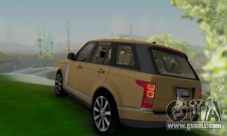 Range Rover Vogue 2014 V1.0 SA Plate for GTA San Andreas back left view
