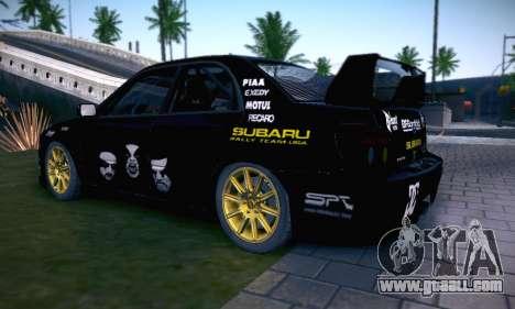 Subaru Impreza WRC STI Black Metal Rally for GTA San Andreas wheels