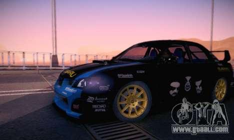 Subaru Impreza WRC STI Black Metal Rally for GTA San Andreas bottom view
