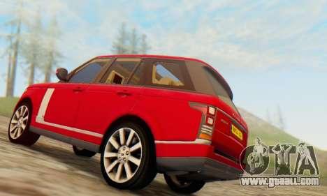 Range Rover Vogue 2014 V1.0 UK Plate for GTA San Andreas back view