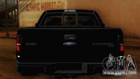 Ford F-150 SVT Raptor 2011 for GTA San Andreas inner view