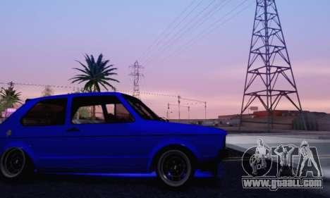 Volkswagen Golf Mk I Punk for GTA San Andreas upper view