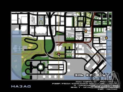 Jungle on a street Aztec for GTA San Andreas sixth screenshot