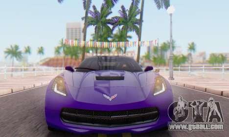 Chevrolet Corvette Stingray C7 2014 for GTA San Andreas back left view