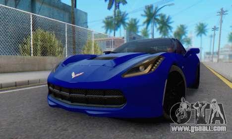 Chevrolet Corvette Stingray C7 2014 for GTA San Andreas left view