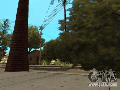Jungle on a street Aztec for GTA San Andreas forth screenshot