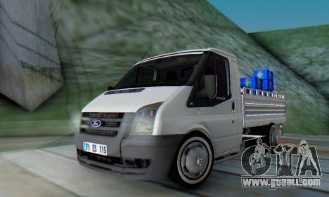 Ford Transit Pikap for GTA San Andreas back left view