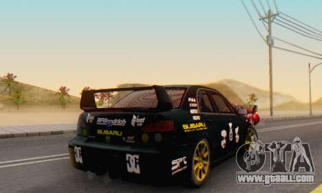 Subaru Impreza WRC STI Black Metal Rally for GTA San Andreas inner view